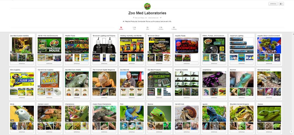 social media marketing for reptile shops: Pinterest