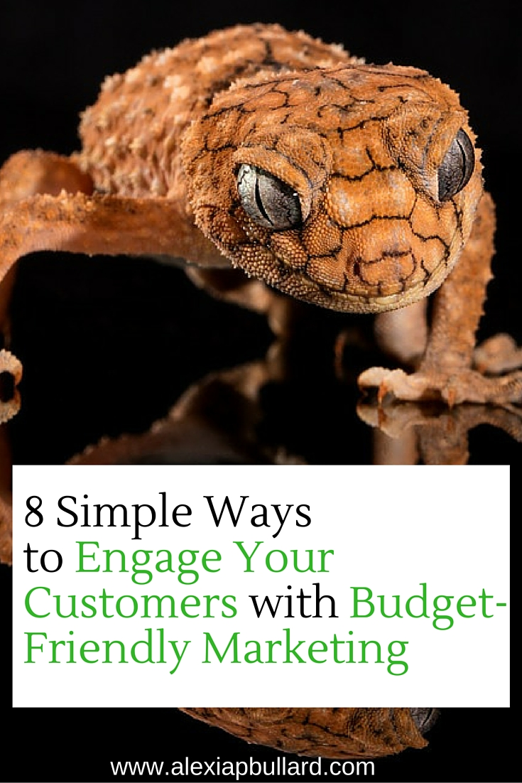 8 Simple Ways to Engage Your Customers with Budget-Friendly Marketing || Alexia P. Bullard || www.alexiapbullard.com