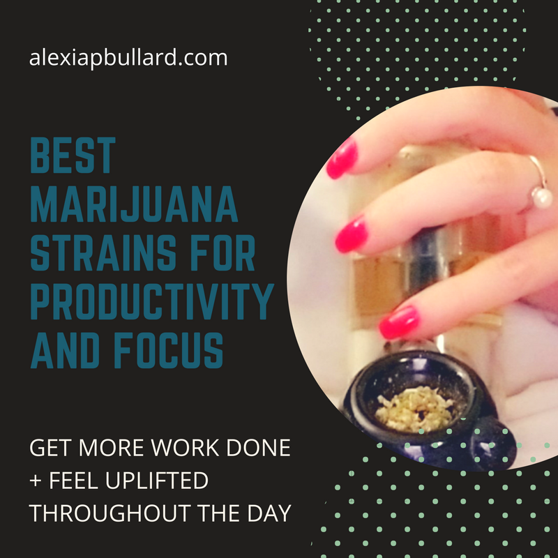 Best marijuana strains for productivity + focus || Booklexia Content Marketing, cannabis content marketing, cannabis marketing, cannabis writer