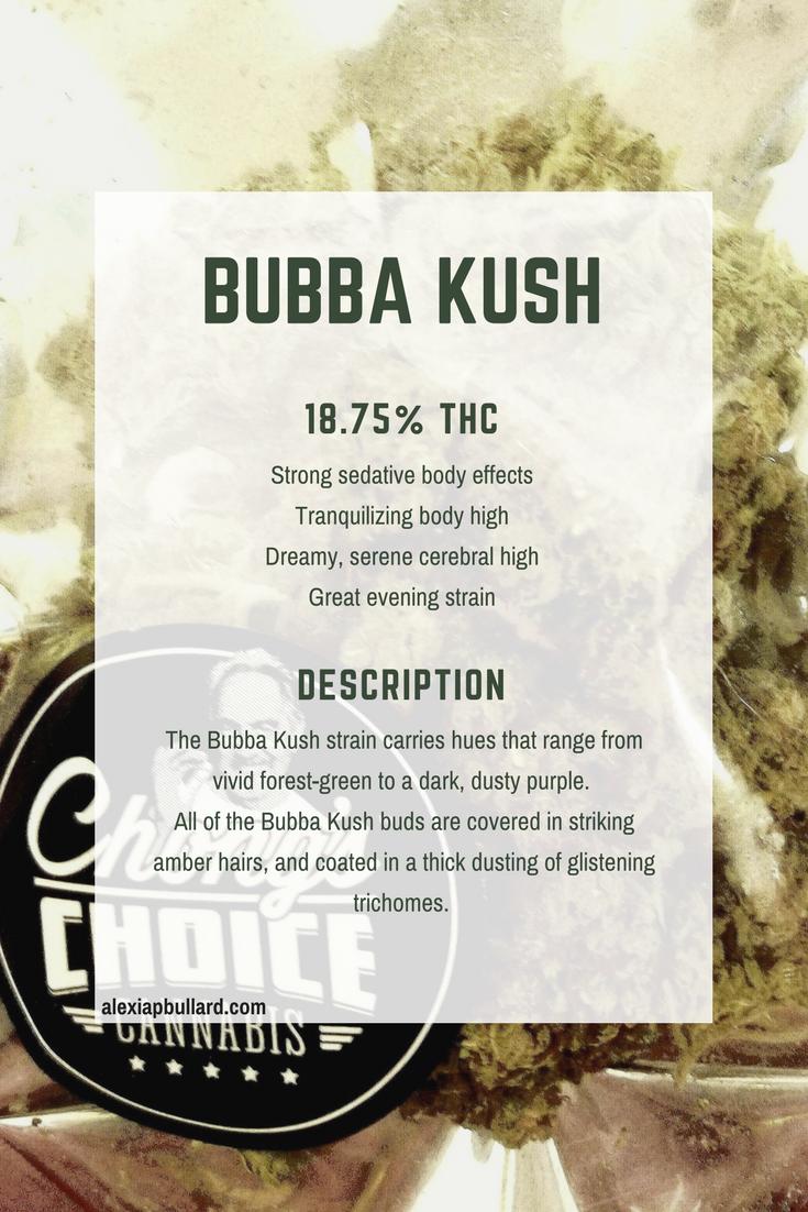 Booklexia Bud Bios : Bubba Kush strain information