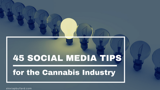 Is your cannabis business having trouble deciding what to share? These 45 social media post ideas will help you out!