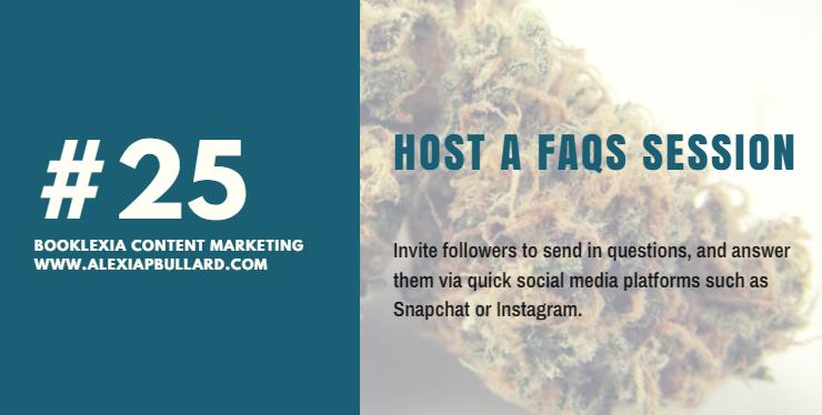 Social Media Post Ideas #25: Host a FAQs Session on your social media