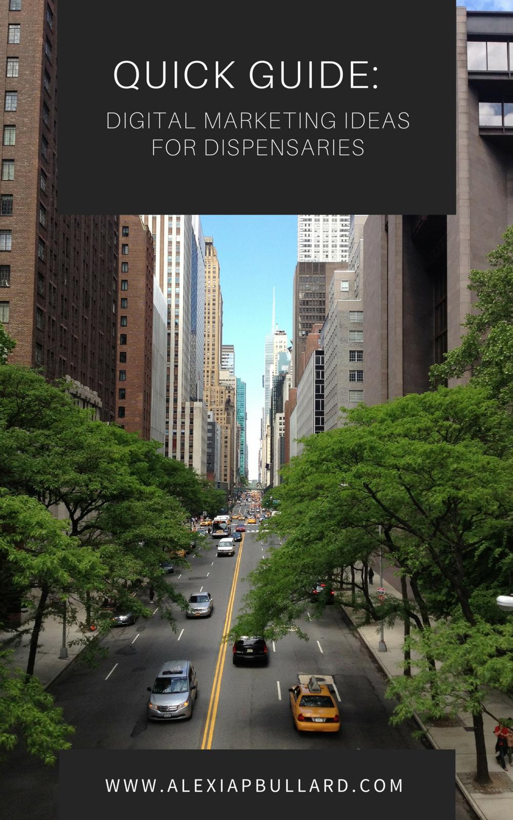 Quick Guide: Digital Marketing Ideas for Dispensaries Booklexia Content Marketing alexiapbullard.com