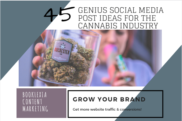 What Should Cannabis Businesses Post on Social Media? - Here are 45 genius social media post ideas  for the cannabis industry, designed to help you increase website traffic and conversions.