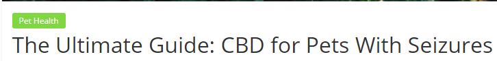 This headline promises to be the best guide possible on the subject of  CBD for pets with seizures . This headline is specific, shows expertise, and shows clear value.