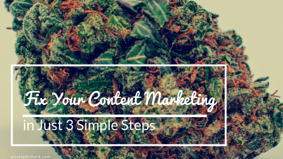 Fix Your Cannabis Content Marketing in 3 Simple Steps | Booklexia Content Marketing