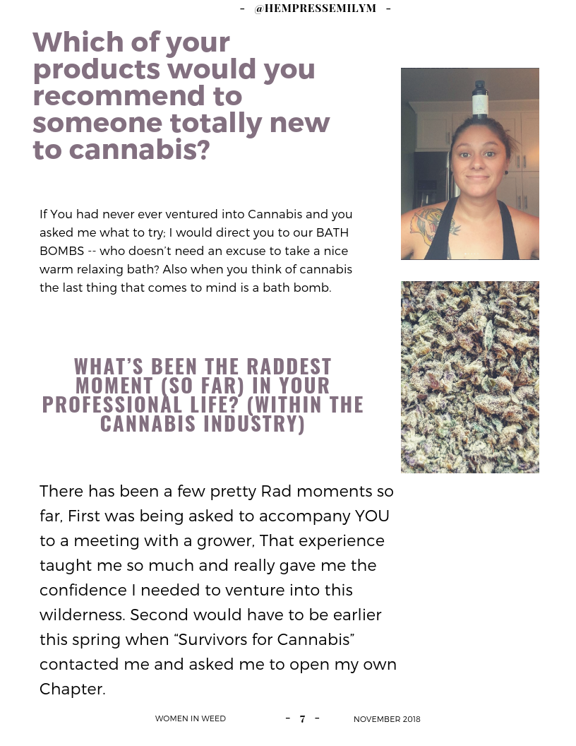Women in Weed: Emily M. | Booklexia Content Marketing, cannabis content marketing