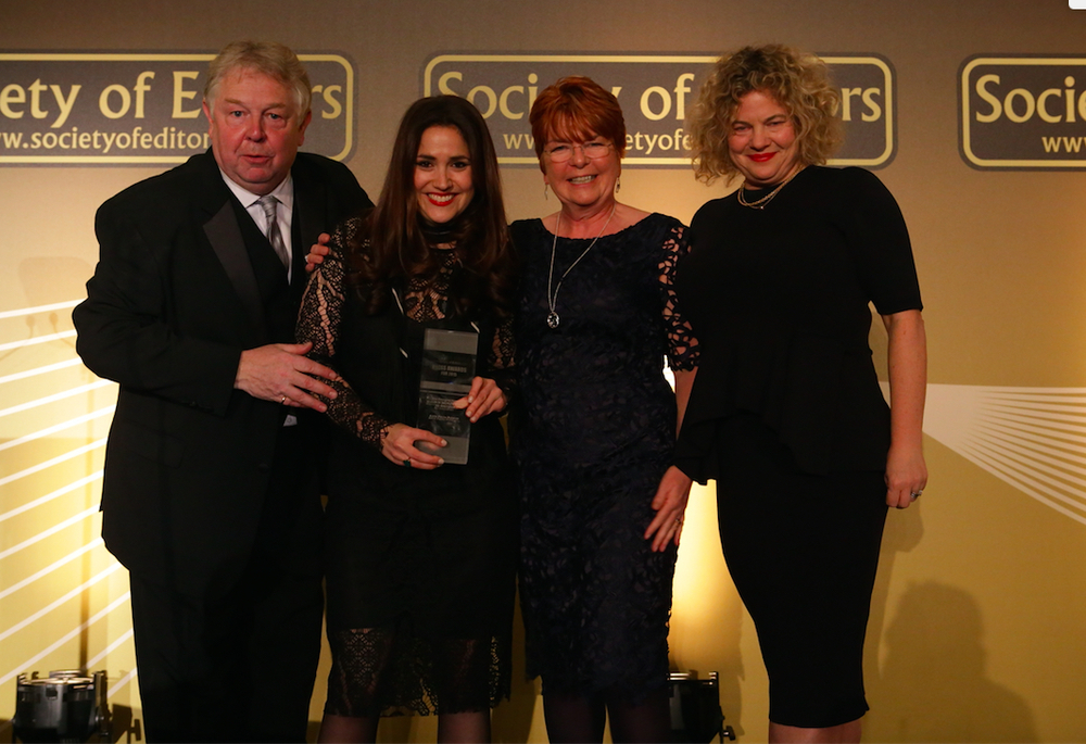 L-R: MC Nick Ferrari, Amie Ferris-Rotman, Wiggins LLP Partner Caroline Kean, and The Sunday Times Editorial Director and Chair of Women in Journalism Eleanor Mills