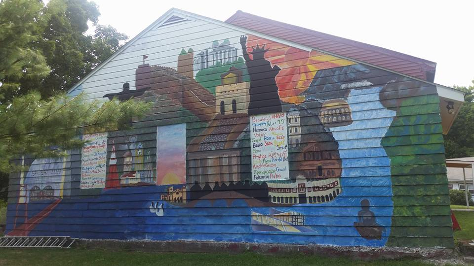 Projects can be whatever campers conceive. This mural was conceived and created over the entire course of the camp season in 2015.