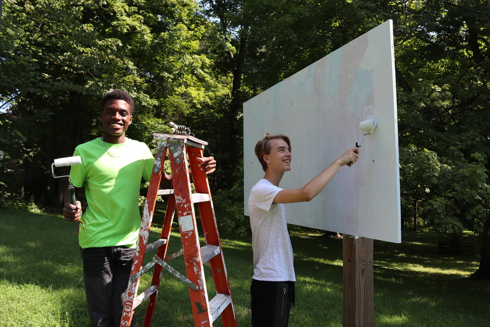 Welcome Sign - The welcome sign project, is making a new sign at the entrance of camp. The sign is a great way to create a meaningful first impression welcoming newcomers to camp.