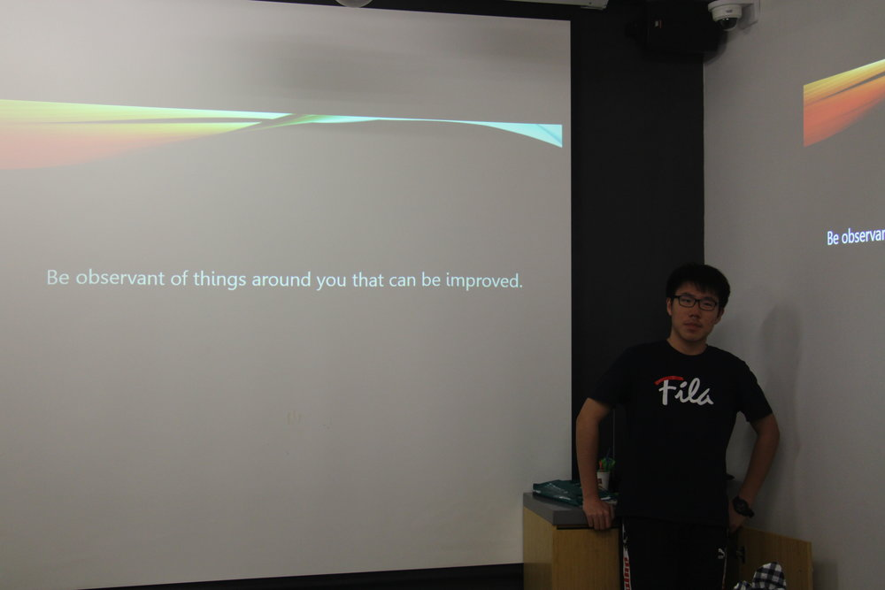 Xiao discusses how to start a project.