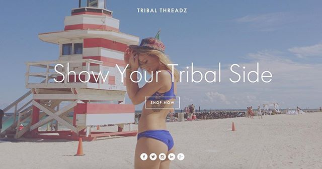 NEW website is live! Use coupon code TRIBAL for 30% off #ShowYourTribalSide Link in bio: @tribalthreadz