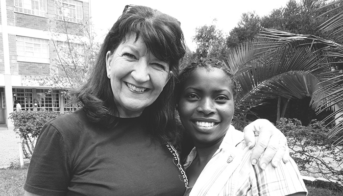 Grace and Lorelei in Kenya