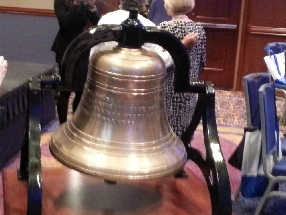 The Mental Health America bell, cast from the handcuffs and shackles previously used to restrain the mentally ill.