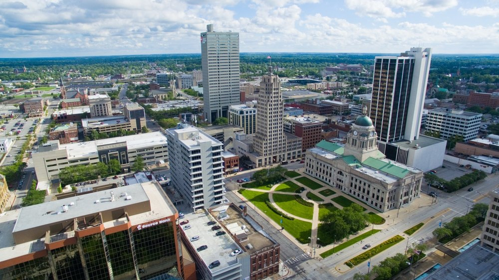Fort Wayne, Indiana Aerial Shots of Iconic Locations ( via     Nicholas J Photography )