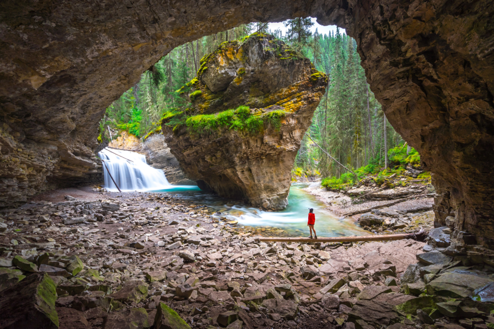 1. Cave dwelling at Johnston Canyon: Sometimes going off trail will take you to some of the most incredible places. Step foot into this cave and onto another planet as you take in the otherworldly view.