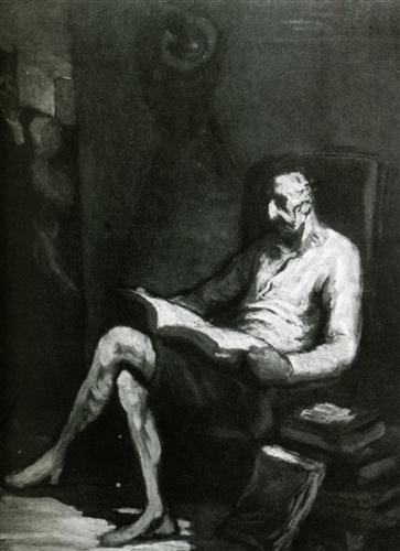 Honore Daumier-- How many values do you see?