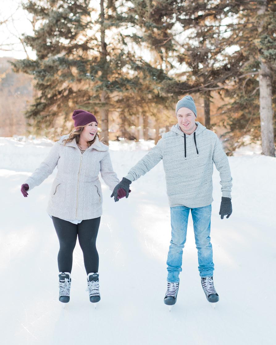 Edmonton Skating Engagement Session