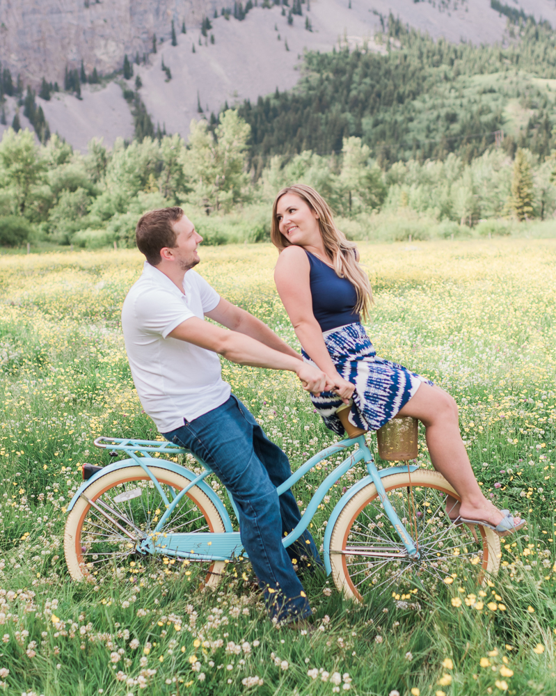 Vintage Bike Engagement Session