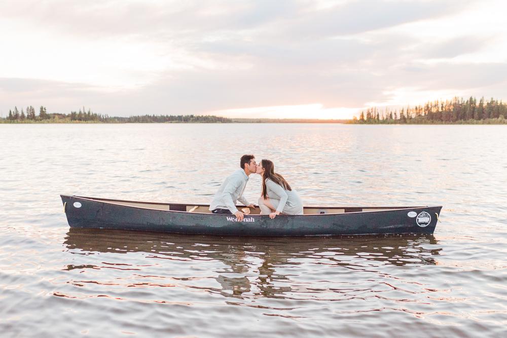 Edmonton Canoe Engagement Session