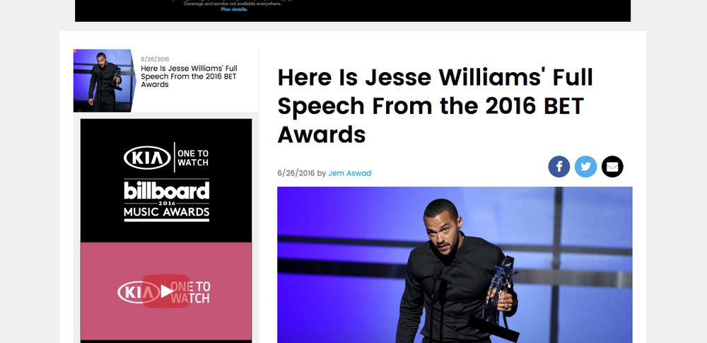 http://www.billboard.com/articles/news/7416612/jesse-williams-bet-awards-2016-speech-video