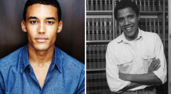 Actor Devon Terrell, left, and a young Barack Obama. (Left:Creative Artists Agency; right: Joe Wrinn/Harvard University via AP)