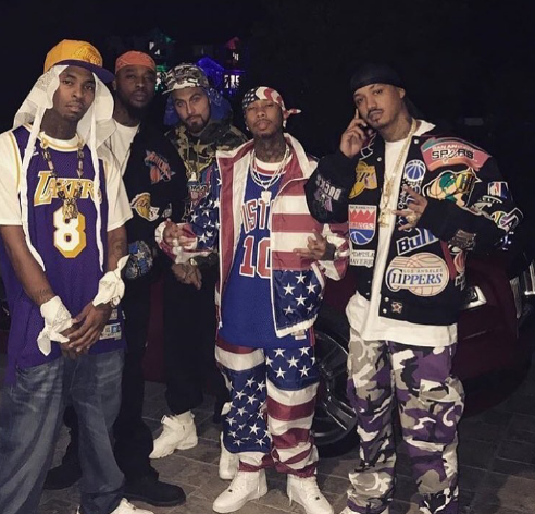 Dipset in the building!!! Tyga and his crew showed up and out as one of New York's hottest cliques, The diplomats. Dope job fellas !