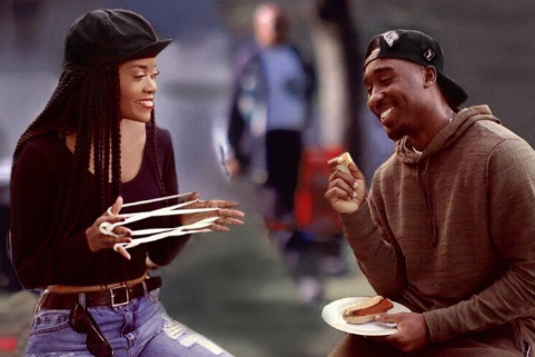 Karen Civil as Justice from the classic movie Poetic Justice. Almost looks exactly like the cookout scene straight out of the movie. This superwoman was dead on with this!