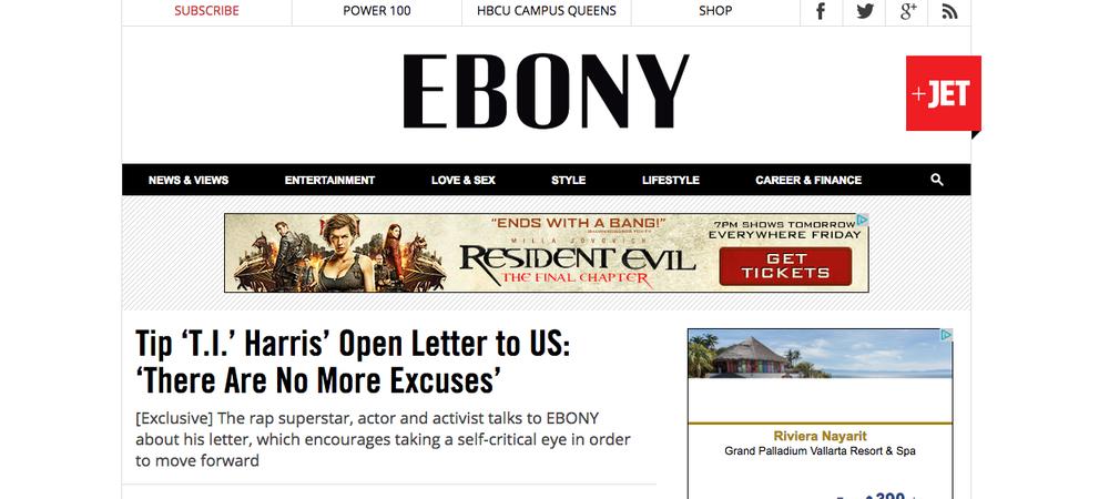 Full Letter & Ebony Interview