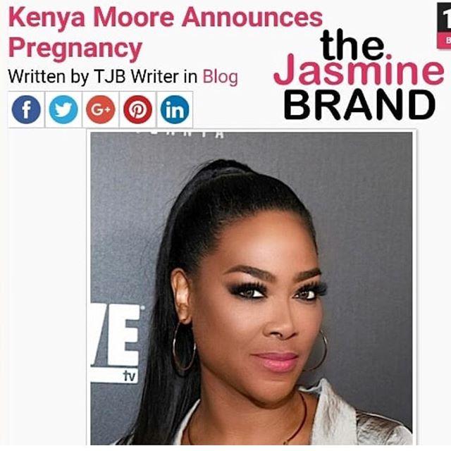 Via: @thejasminebrand_ is @thekenyamoore expecting???? 👀👀 .  #toomuchinfo #positivenews