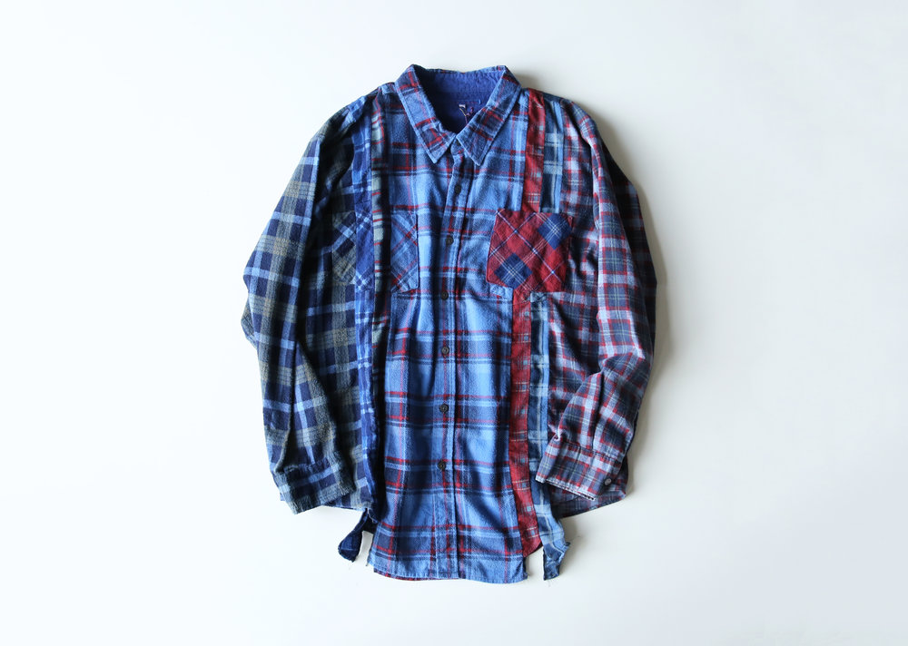 0ac35c8f79e6 Rebuild by Needles Indigo 7 Cuts Flannel Shirt