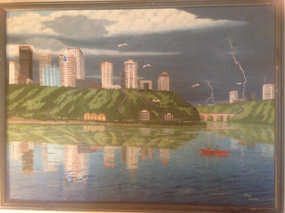 Painting done by Herbert Lindae