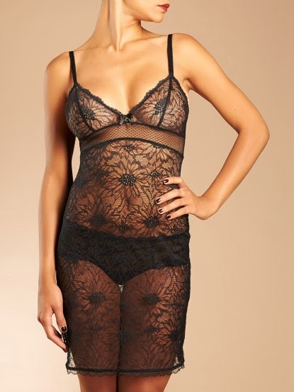 Black Lace Chemise from Chantelle