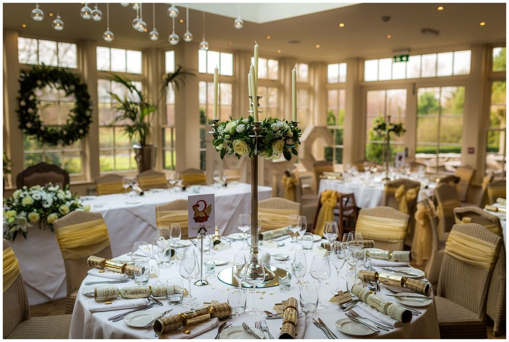 the wedding setup at mitton hall, north west