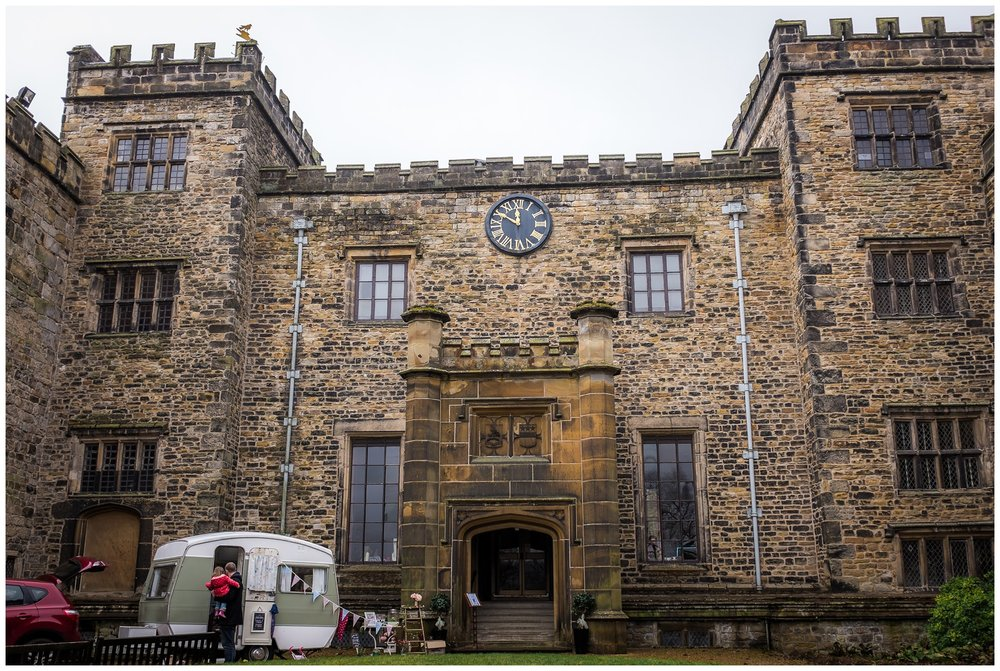 a picture of towneley hall, north west from the outside
