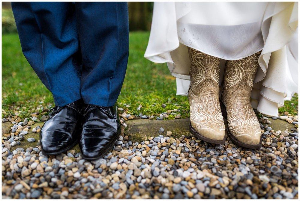shot of cowboy boots