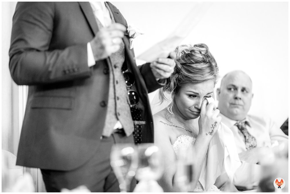 bride crying during speeches