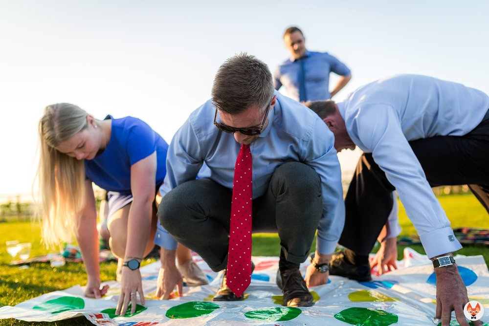 guests playing twister