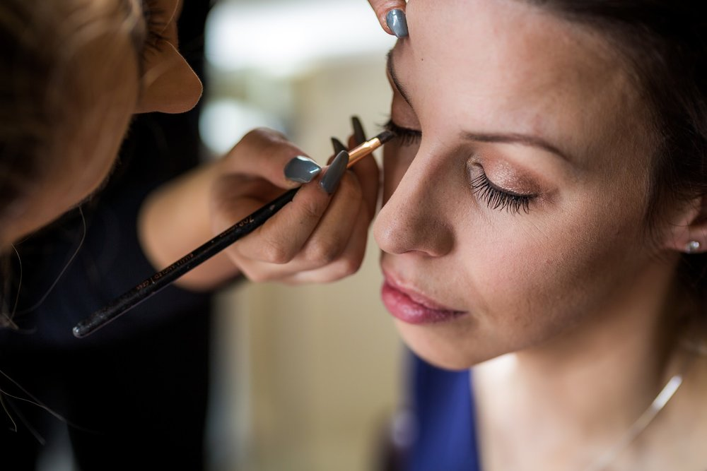 bride getting ready at kilhey court, lancashire