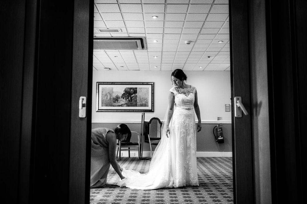 bride almost ready