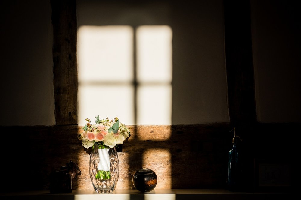 wedding flowers in sunlight
