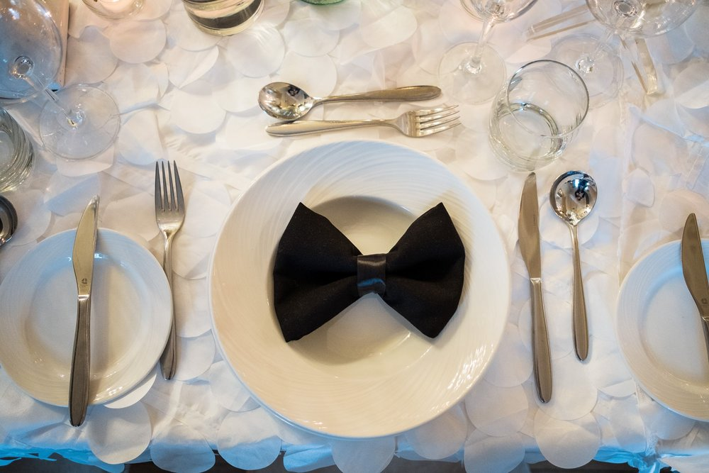 bow tie centre pieces