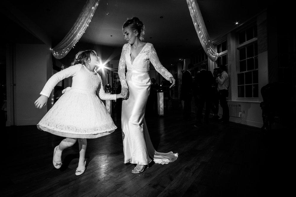 daughter and mum dancing