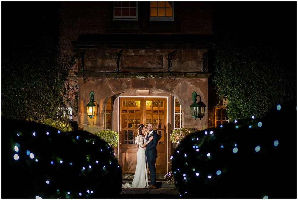 nighttime portrait at nunsmere hall, cheshire