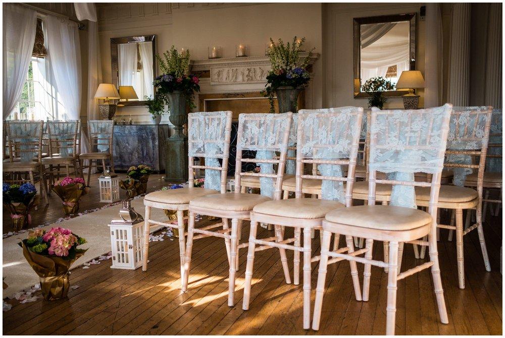 chairs setup for a wedding