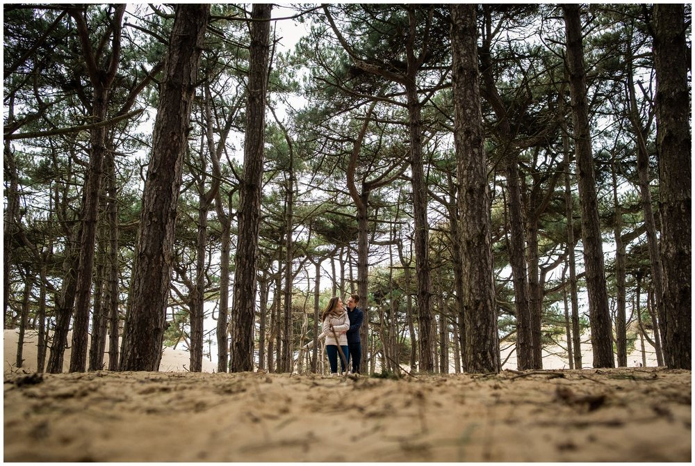 couple in trees