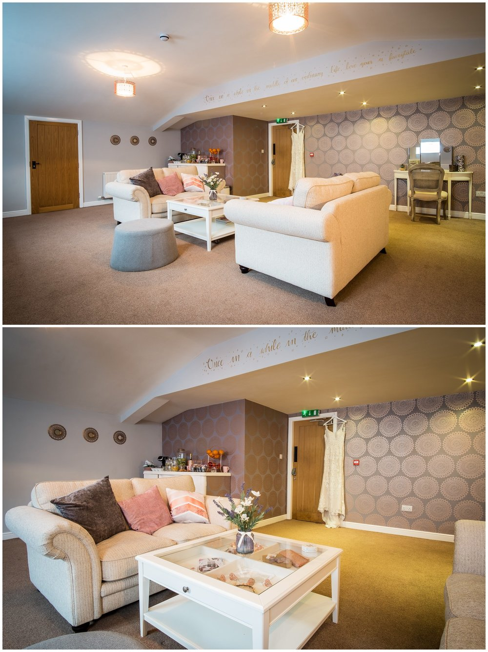 charnock farm bridal room
