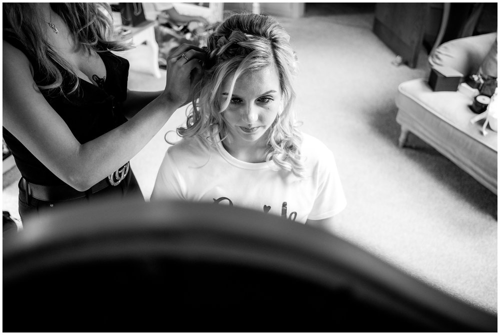 bridal preparations at the oak tree of peover