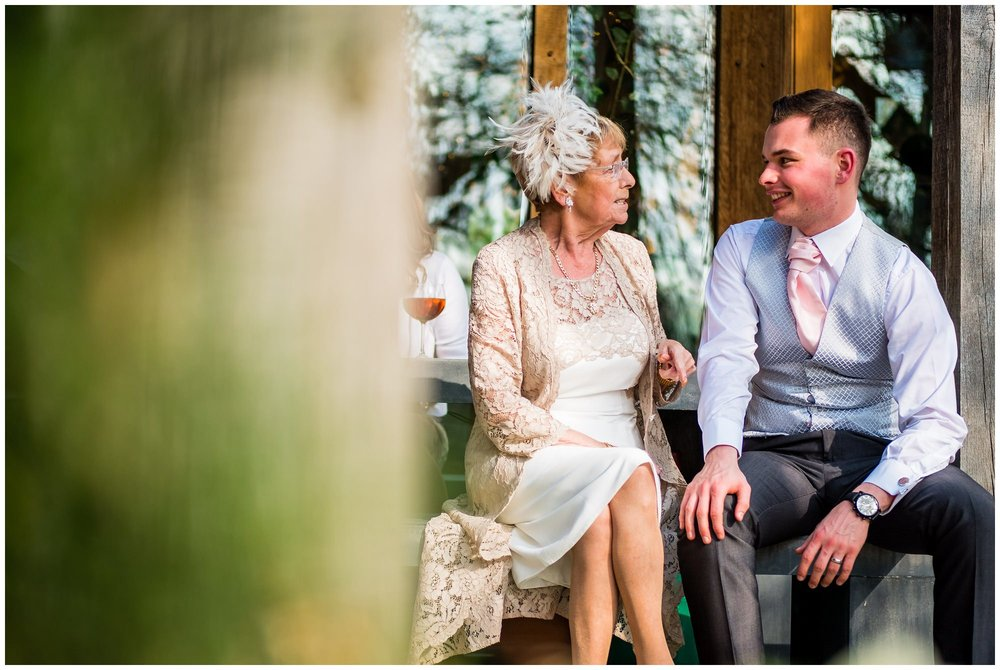 groom sat with nan