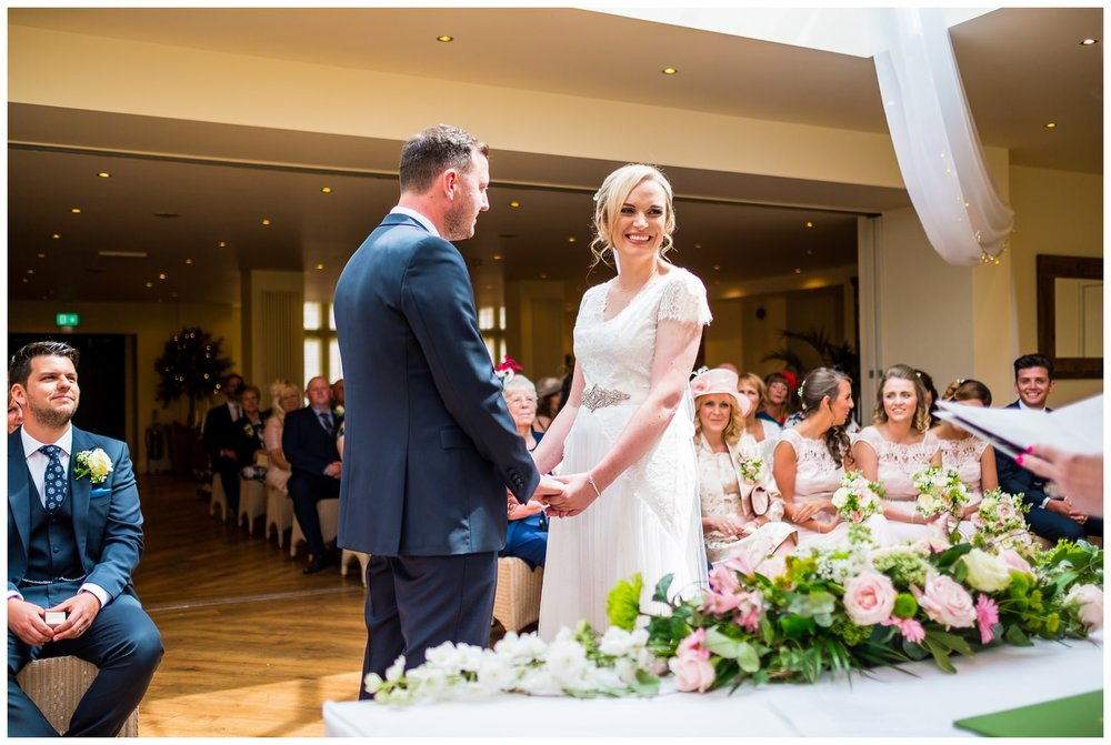 wedding ceremony at mitton hall, lancashire